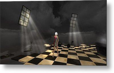 Metal Print featuring the digital art Girl On The Floor by Susanne Baumann