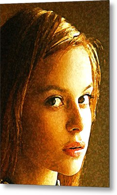 Metal Print featuring the painting Girl Sans by Richard Thomas