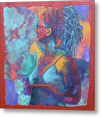 Metal Print featuring the painting Girl With Dreads by Nancy Jolley