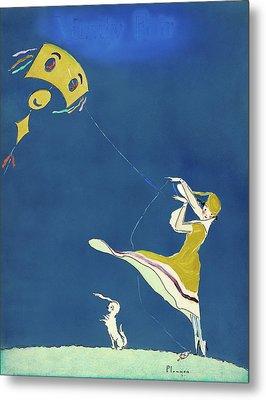 Girl With Kite, C1917 Metal Print