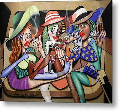 Girls Night Out Metal Print by Anthony Falbo