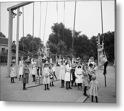 Girls Playground 1899 Metal Print by Steve K