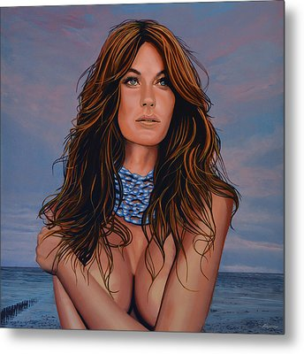 Gisele Bundchen Painting Metal Print by Paul Meijering