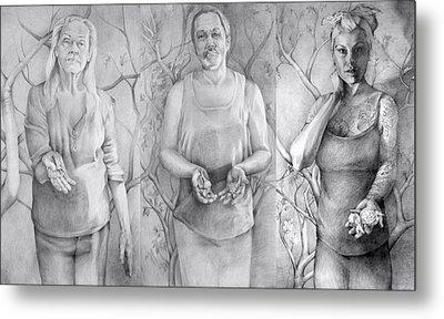 Giver Series Metal Print by Julie Orsini Shakher