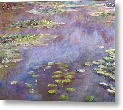 Giverny Nympheas Metal Print by David Lloyd Glover