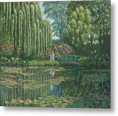 Giverny Reflections Metal Print by Richard Harpum