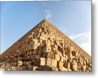Giza Pyramid Detail Metal Print by Jane Rix