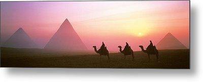 Giza Pyramids Egypt Metal Print