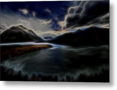 Metal Print featuring the digital art Glacial Light 1 by William Horden