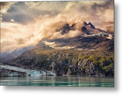 Metal Print featuring the photograph Glacier And Peaks-glacier Bay National Park by Janis Knight