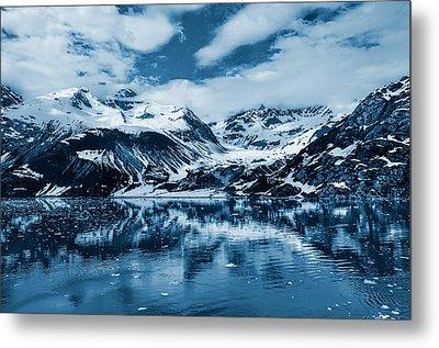 Glacier Bay - Alaska - Landscape - Blue  Metal Print