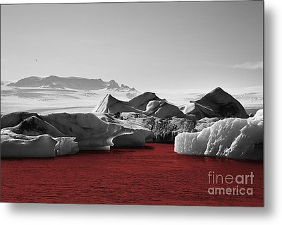 Glacier Blood Metal Print