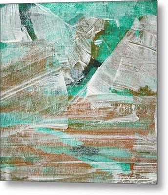 Metal Print featuring the painting Glacier C2013 by Paul Ashby