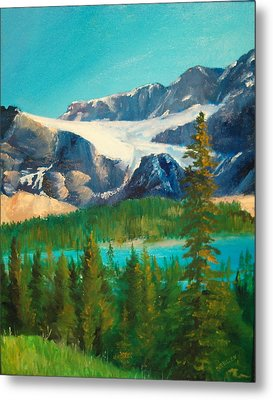 Metal Print featuring the painting Glacier by Ellen Canfield