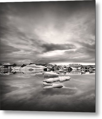Metal Print featuring the photograph Glacier Lagoon II by Frodi Brinks
