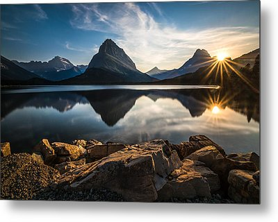 Glacier National Park Metal Print by Larry Marshall