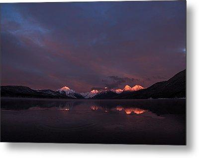 Alpen Glow // Lake Mcdonald, Glacier National Park Metal Print by Nicholas Parker