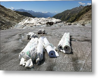 Glacier Protection Metal Print