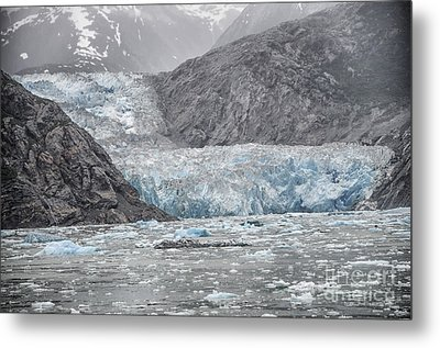 Glacier Tracy Arm Fjord Metal Print by JRP Photography