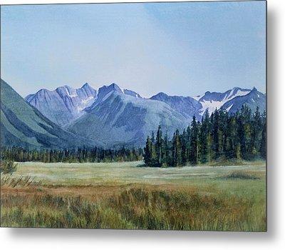 Glacier Valley Meadow Metal Print by Sharon Freeman
