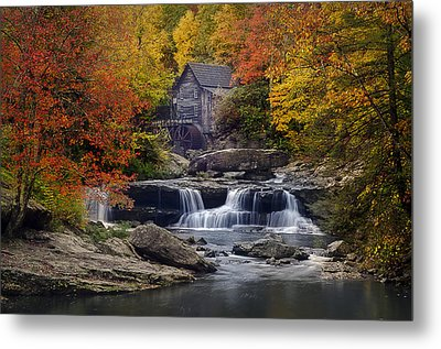 Glade Creek Grist Mill 2 Metal Print by Michael Donahue