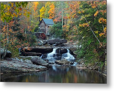 Metal Print featuring the photograph Glade Creek Grist Mill by Daniel Behm