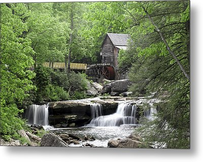 Glade Creek Grist Mill Metal Print by Robert Camp
