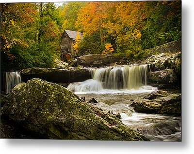 Glade Creek Grist Mill Metal Print by Shane Holsclaw