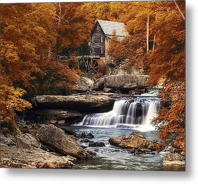 Glade Creek Mill In Autumn Metal Print by Tom Mc Nemar