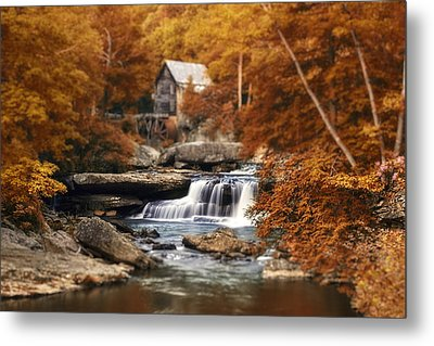 Glade Creek Mill Selective Focus Metal Print by Tom Mc Nemar
