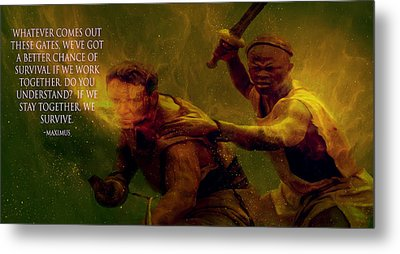 Metal Print featuring the photograph Gladiator  by Brian Reaves