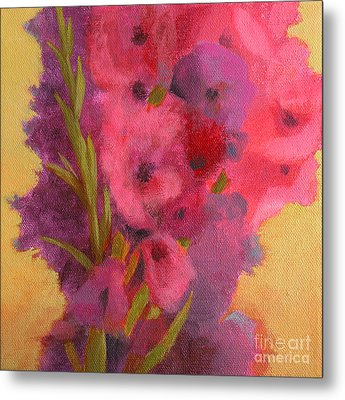 Gladiolas No. 1 Metal Print by Melody Cleary