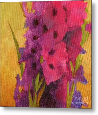 Gladiolas No. 2 Metal Print by Melody Cleary