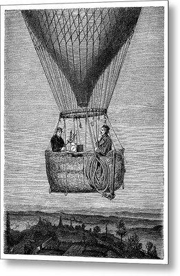 Glaisher-coxwell Balloon Flight Metal Print