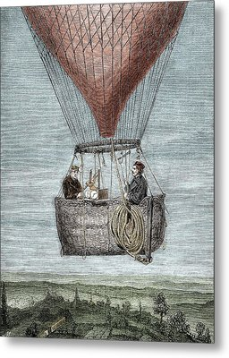 Glaisher-coxwell Balloon Flight Metal Print