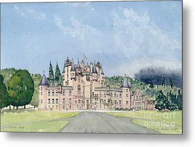 Glamis Castle Tayside  Metal Print by David Herbert