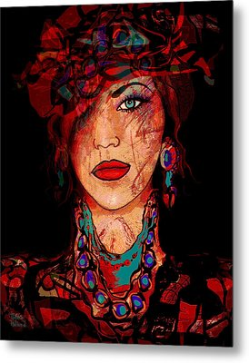 Glamor Metal Print by Natalie Holland