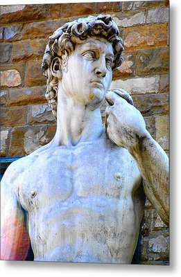 Glance At David Metal Print