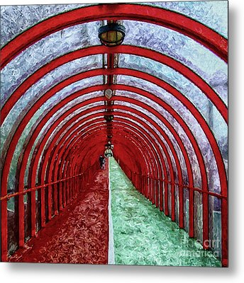 Glasgow Arcs Painting Metal Print