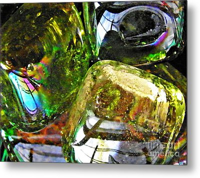 Glass Abstract 119 Metal Print by Sarah Loft