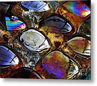 Glass Abstract 13 Metal Print by Sarah Loft