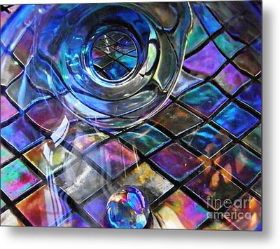 Glass Abstract 262 Metal Print by Sarah Loft