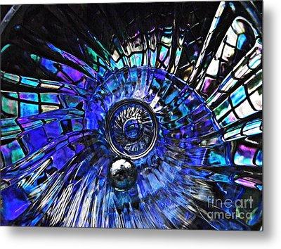Glass Abstract 403 Metal Print by Sarah Loft