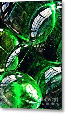 Glass Abstract 48 Metal Print by Sarah Loft
