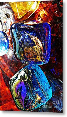 Glass Abstract 685 Metal Print by Sarah Loft
