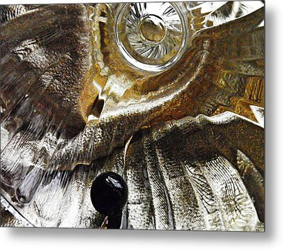 Glass Abstrct 457 Metal Print by Sarah Loft