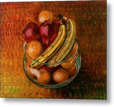 Glass Bowl Of Fruit Metal Print by Sean Connolly