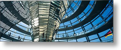 Glass Dome Reichstag Berlin Germany Metal Print by Panoramic Images