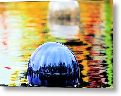 Metal Print featuring the photograph Glass Floats by Elizabeth Budd