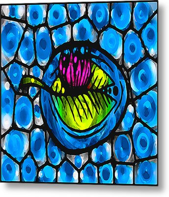 Glass Lilly Metal Print by Josephine Ring